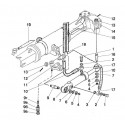 Cilindru hidraulic C63 și instalația (PF 822-2300020-04 sau PF 822-2300020-02)